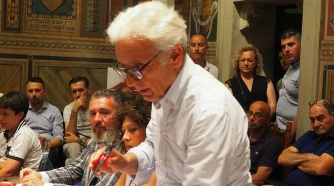 consiglieri comunali della Lega di San Miniato Roberto Ferraro, Beatrice Calvetti e Federico Gregorini