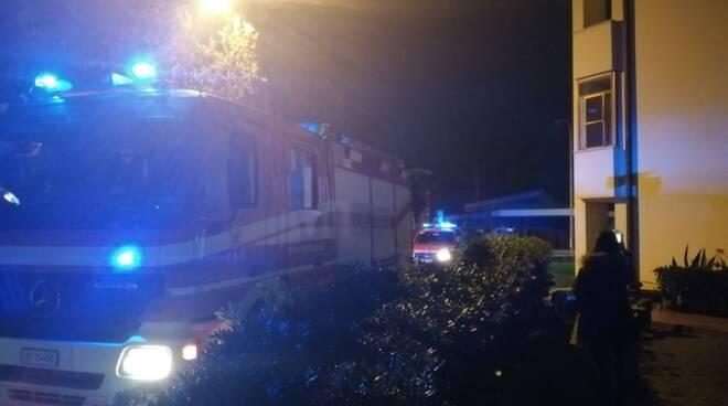 Fuga di gas vigili del fuoco a Santa Maria a Monte