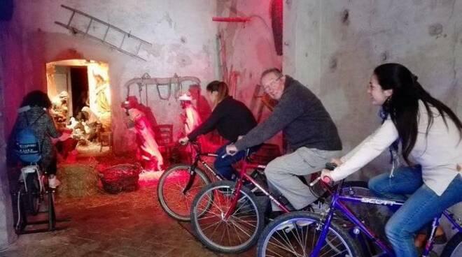 Il presepe in bicicletta