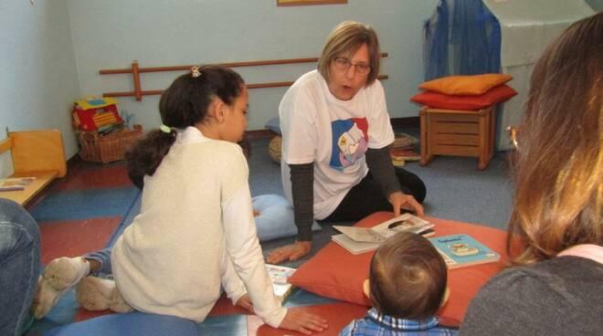 Inaugurazione biblioteca nido d'infanzia arcobaleno a San Marco