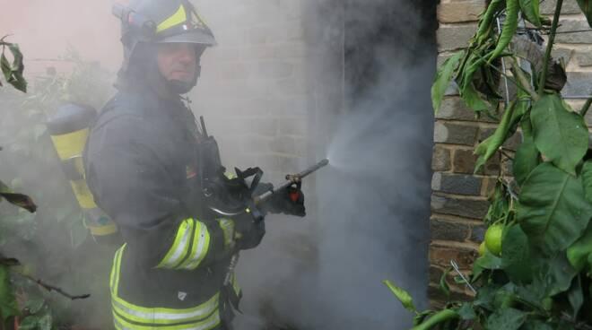 Incendio in una abitazione a Fornaci di Barga