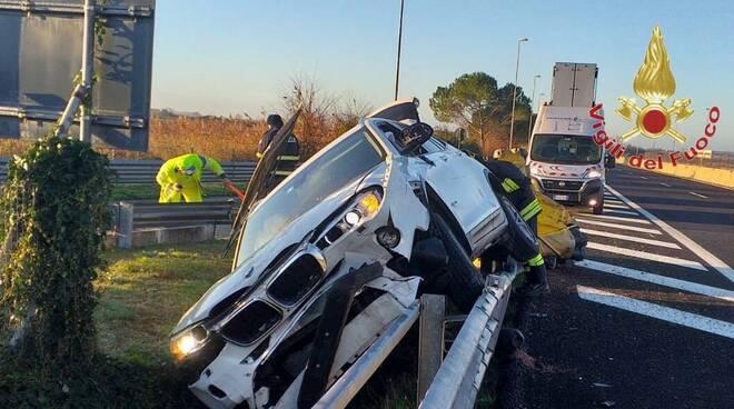 Incidente in A11 a Migliarino
