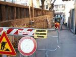 Lavori in via delle Fontane a Castelnuovo Garfagnana