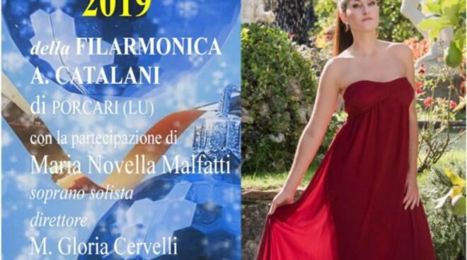 Locandina del concerto di Natale a Porcari