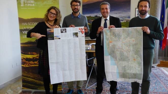 mappa delle Terre di Pisa Camera di Commercio