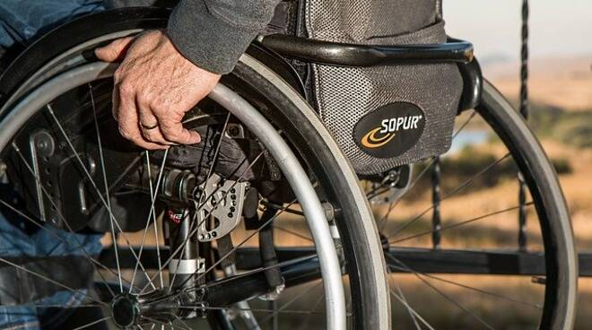 sedia a rotelle disabile