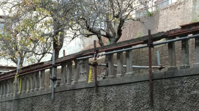 muro di contenimento via san giovanni montopoli valdarno