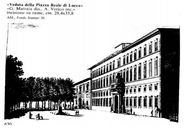piazza napoleone lucca incisione matraia