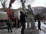 Statua Altero Matteoli a Vagli