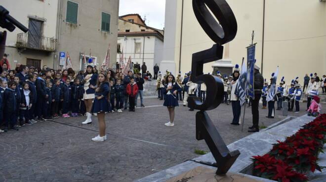 Statua danneggiata Massarosa 150 anni