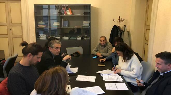 Una seduta della commissione bilancio