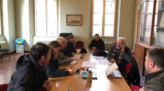 Una seduta della commissione lavori pubblici