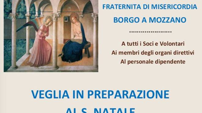 veglia di preghiera di preparazione al Natale a Borgo a Mozzano