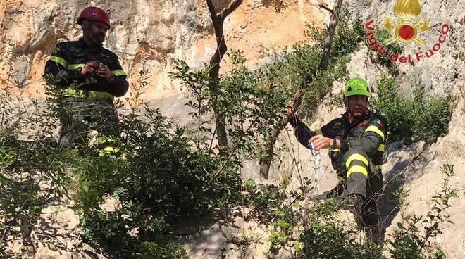 vigili del fuoco recupero montagna avane vecchiano