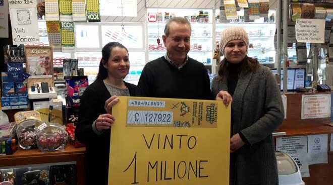Biglietto da un milione: si festeggia alla tabaccheria Trapani