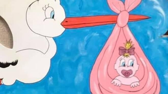 fiocco rosa bebè bambina nuova nata