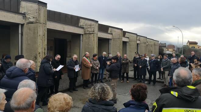 inaugurazione Lucca San Vito piazza vittime immigrazione
