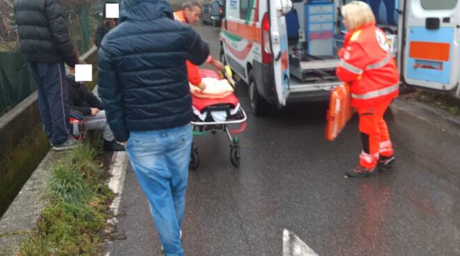 incidente auto scooter via Romana Antraccoli 31 gennaio 2020