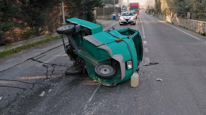 Incidente in via Mammianese sud a Marginone