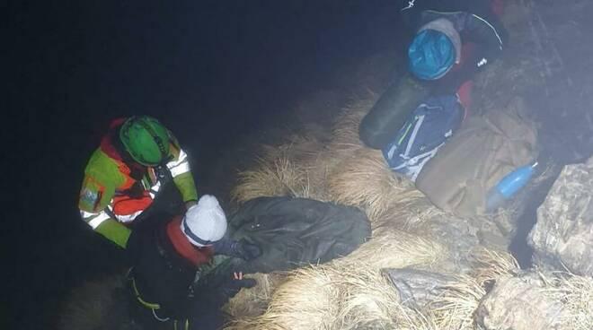Intervento del soccorso alpino