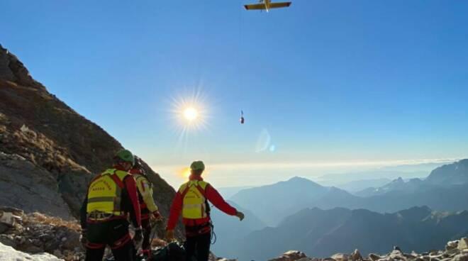 intervento monte Sella soccorso alpino