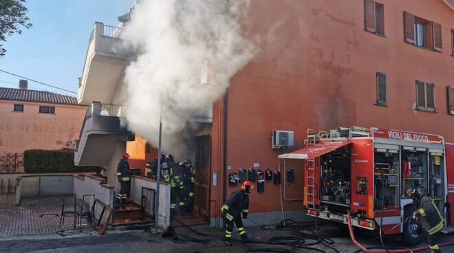 l'incendio nell'abitazione