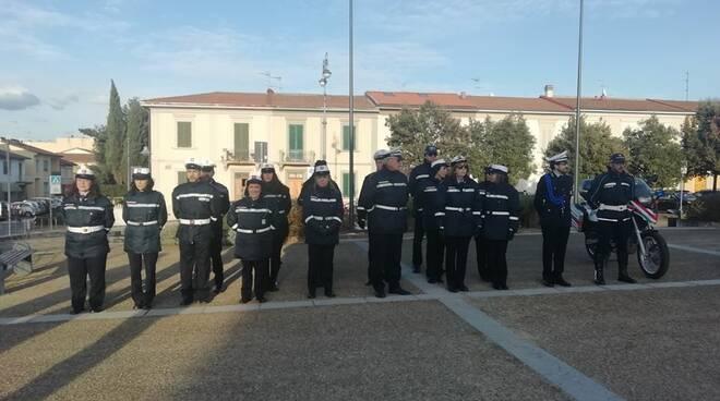 polizia municipale dell'empolese valdelsa in festa per il patrono san sebastiano