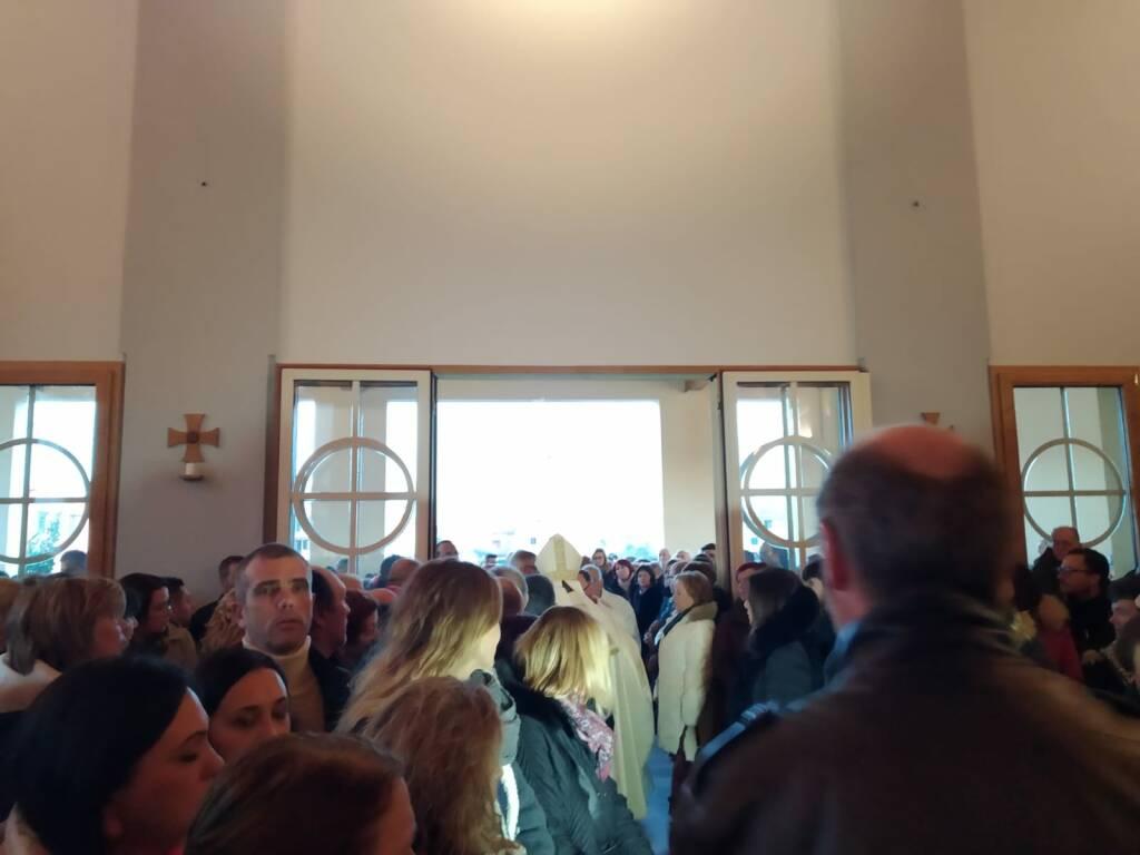 Prima messa nella nuova chiesa di Ponticelli di Santa Maria a Monte