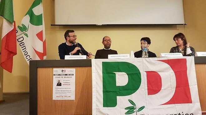Antonio Mazzeo, Tommaso Nannicini e Giulia Deidda a Santa Croce sull'Arno