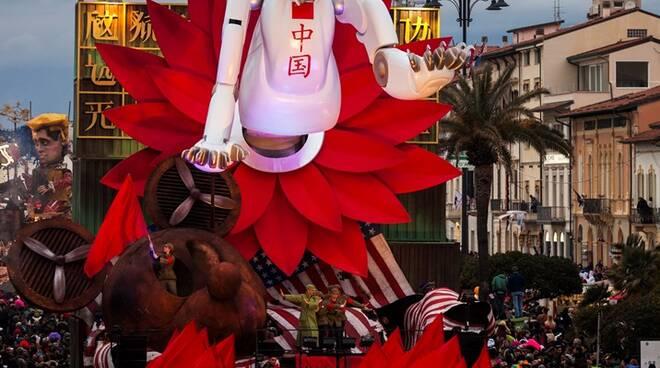 Carnevale di Viareggio 9 febbraio 2020 sfilata