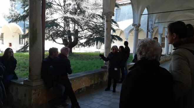 Dipendenti Lucca Metalmeccanica visita ospedale Maggiano