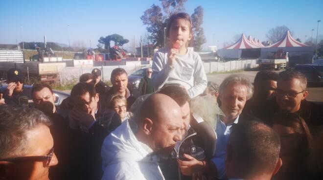 Fondazione Carnevale Cittadella del Carnevale Lega Matteo Salvini visita e contestazione