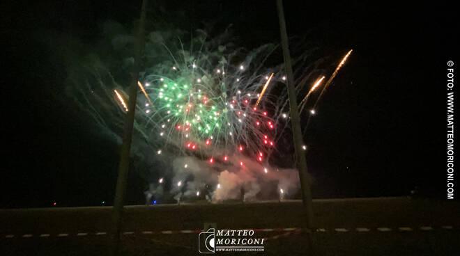Fuochi d'artificio al Carnevale di Viareggio