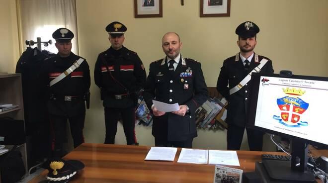 Giorgio Picchiotti conferenza stampa carabinieri Castelnuovo 29 febbraio 2020
