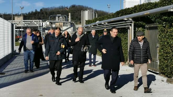 Il prefetto di Pisa Giuseppe Castaldo in visita nel Comprensorio del Cuoio