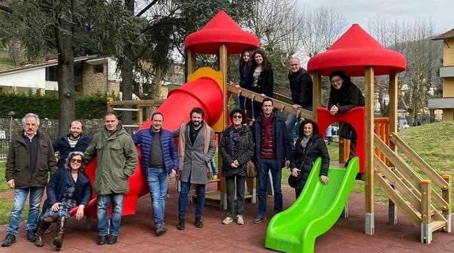 Inaugurazione parco giochi Borgo