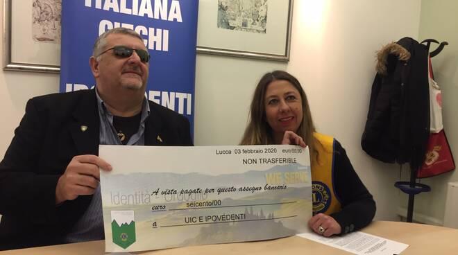 Lions e Unione italiana ciechi e ipovedenti Lucca