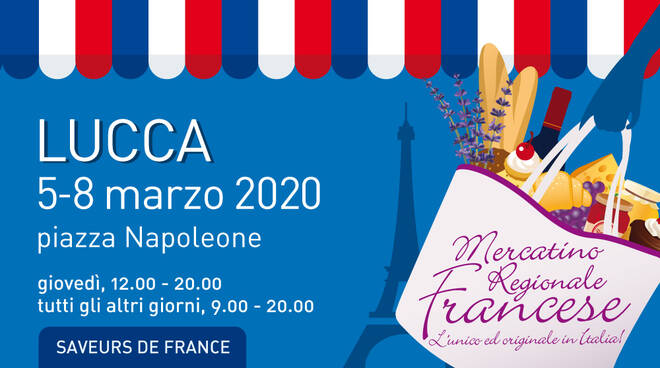 Mercatino regionale francese piazza Napoleone Lucca marzo 2020