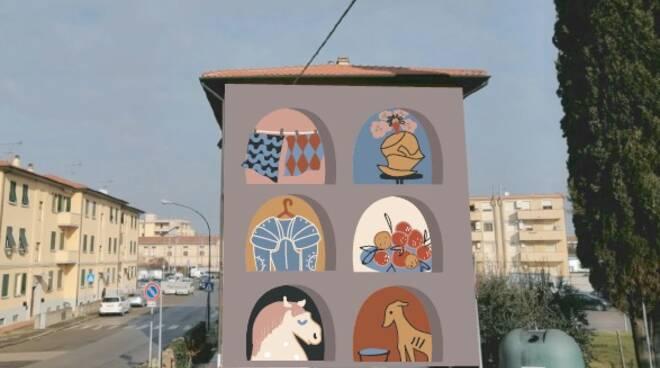 murale san romano omaggio a Paolo Uccello