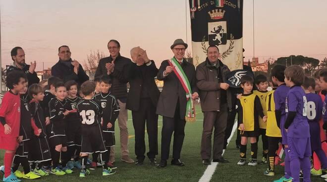 nuovo campo da calcio in erba sintetica Fucecchio centro sportivo Galli