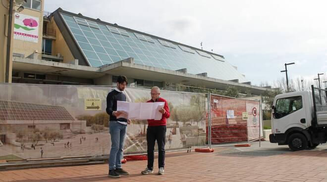 palazzo comunale Capannori due nuove sale nuovo ingresso lavori municipio
