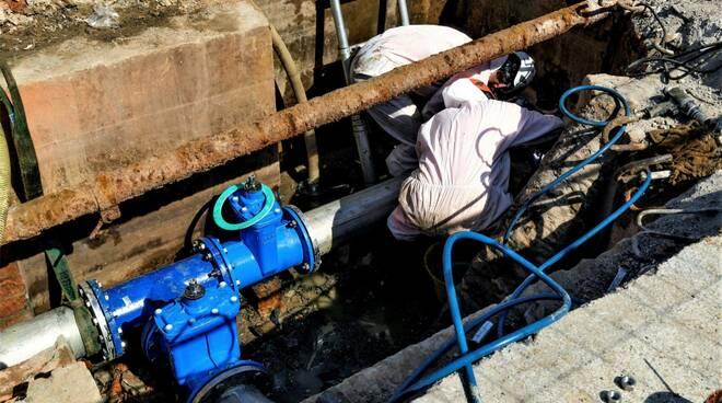 tubazione acquedotto Montecarlo