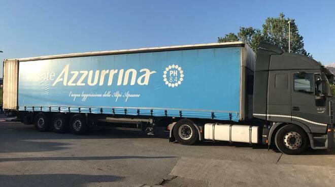 Azzurrina dona acqua a Codogno