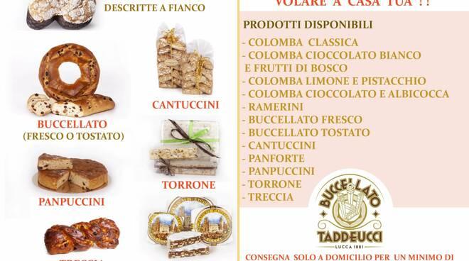 Consegna domicilio Pasticceria Buccellato Taddeucci