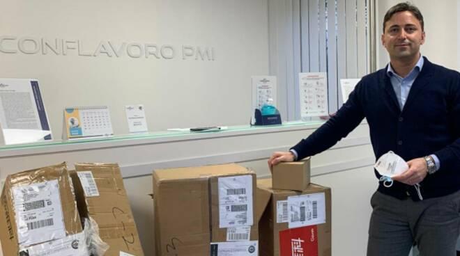 Conflavoro Pmi consegna mascherine commercianti Lucca