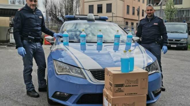 disinfettanti volanti questura Lucca