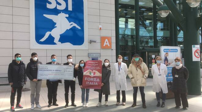 donazione comunità cinese di Fucecchio all'ospedale di empoli