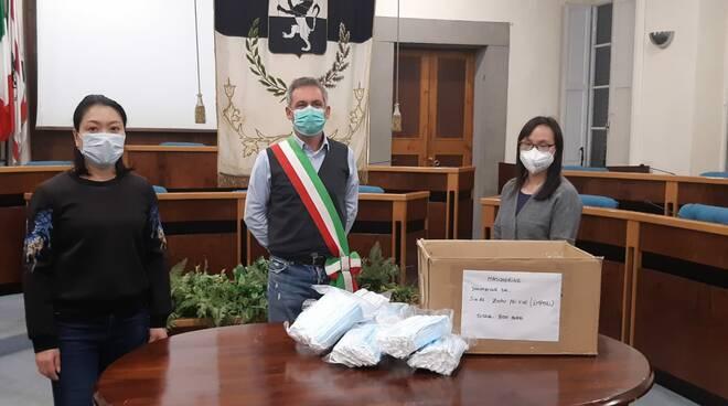 Emiliano Lazzeretti Zmao Peixue donazione mascherine fucecchio