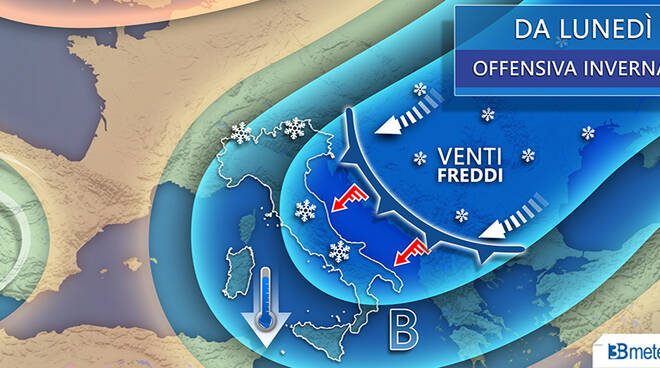 freddo previsione settimana fine marzo