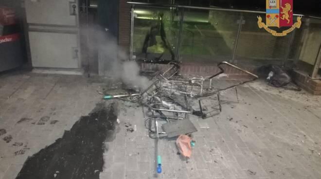 incendio colposo stazione di Lucca carrello pulizie